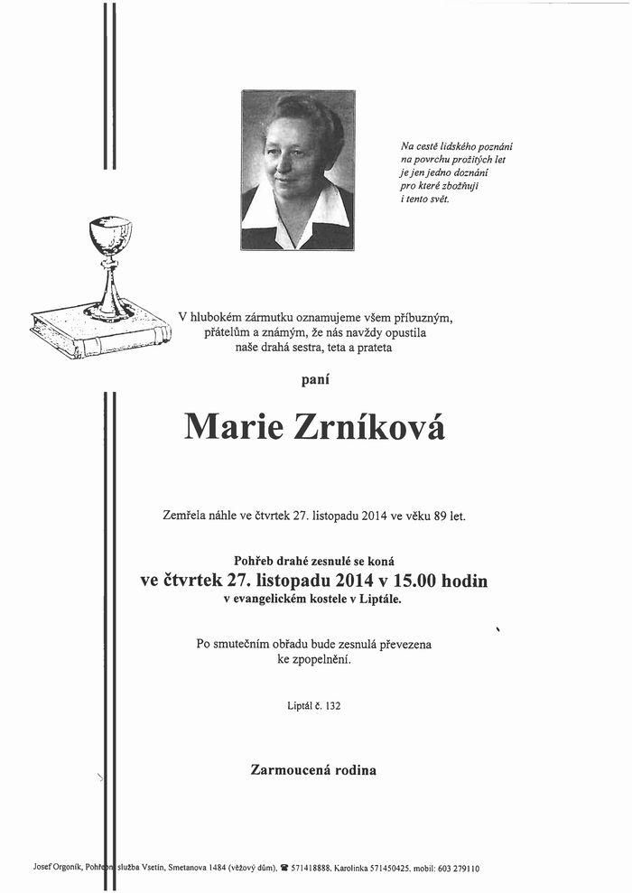 Marie Zrníková