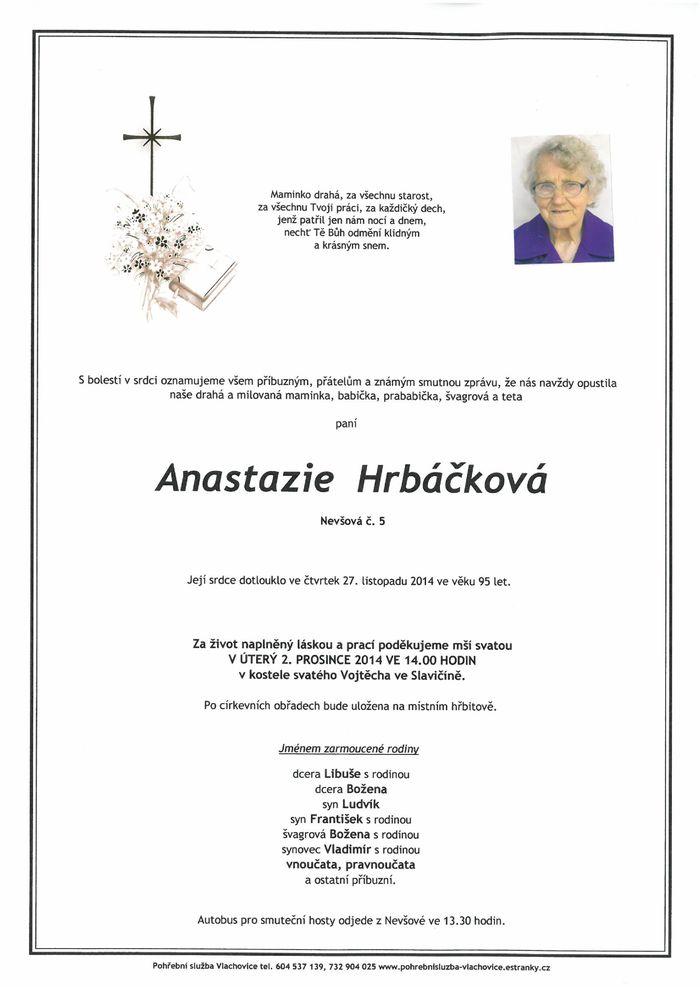 Anastazie Hrbáčková