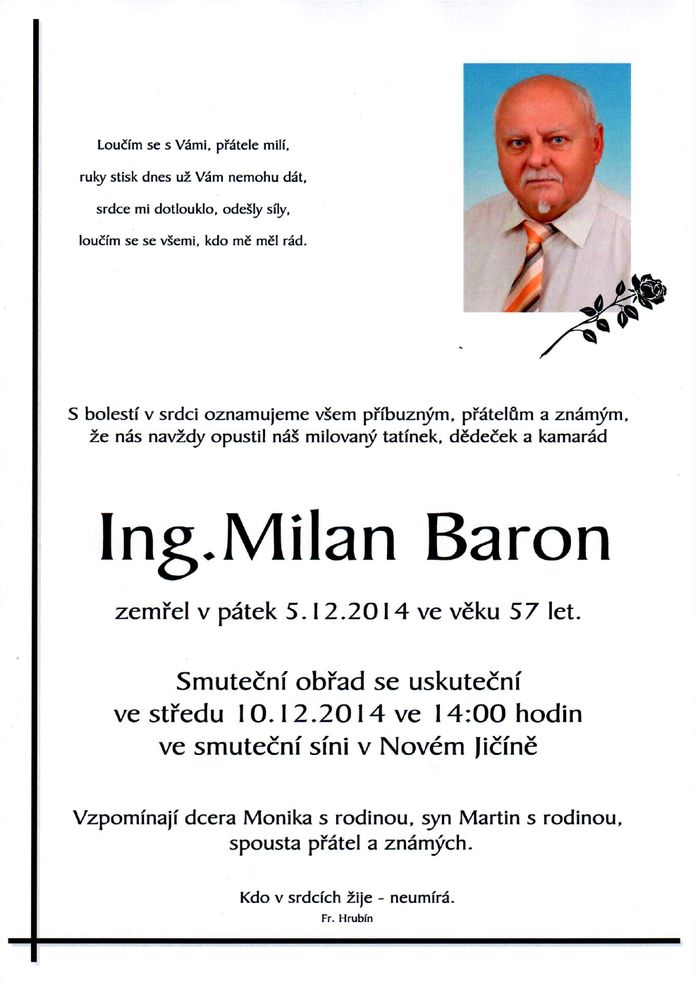 Ing. Milan Baron