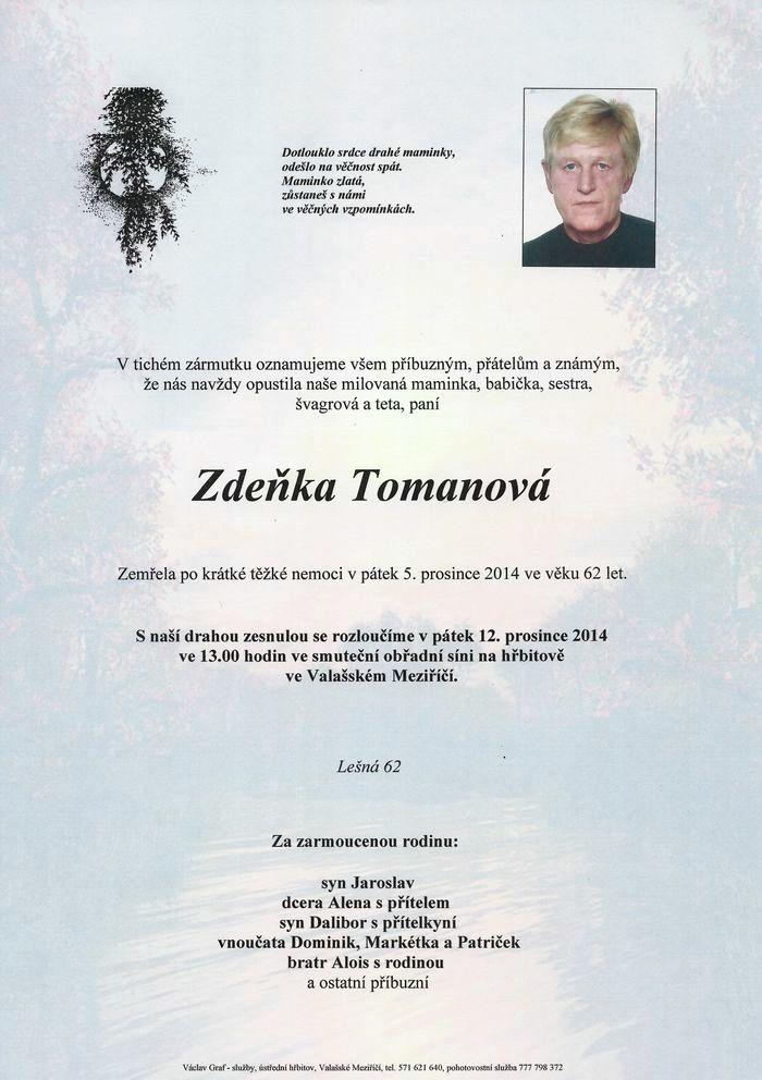 Zdeňka Tomanová