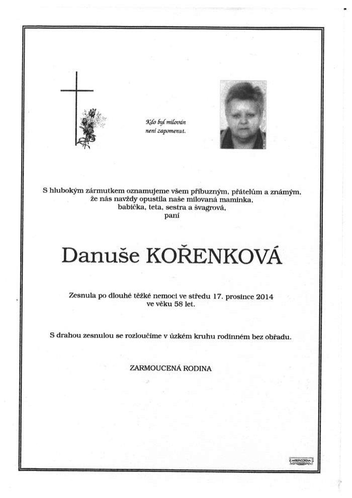Danuše Kořenková