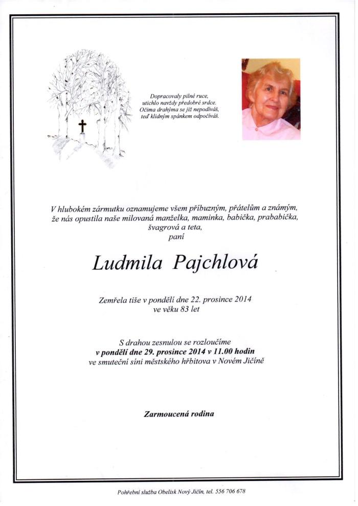 Ludmila Pajchlová