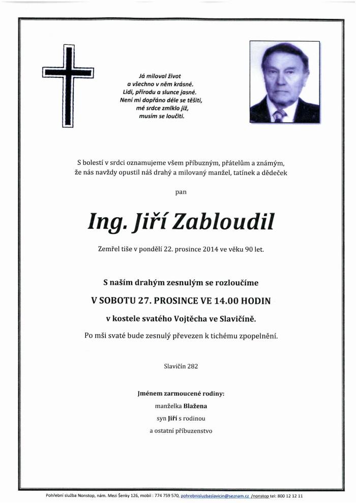 Ing. Jiří Zabloudil