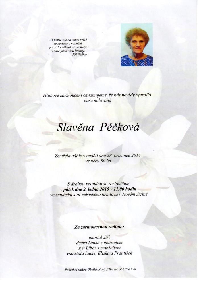 Slavěna Pěčková