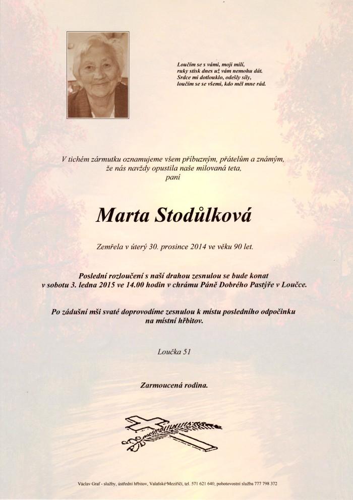 Marta Stodůlková