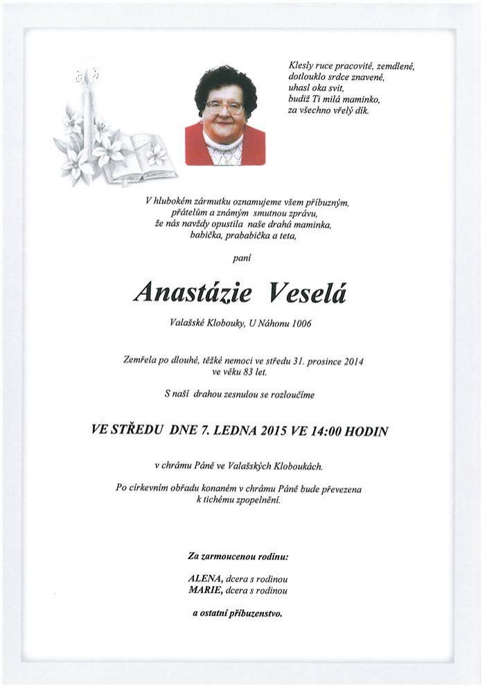 Anastázie Veselá