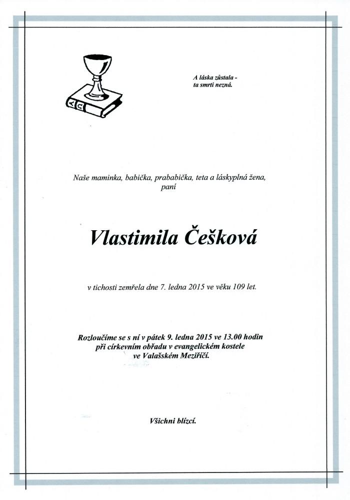 Vlastimila Češková