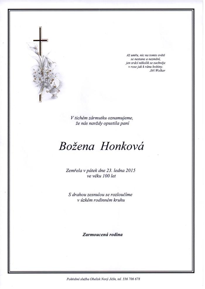 Božena Honková