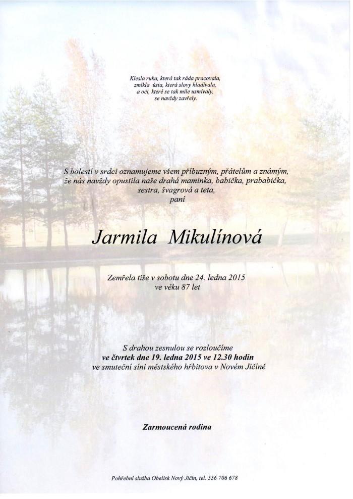 Jarmila Mikulínová