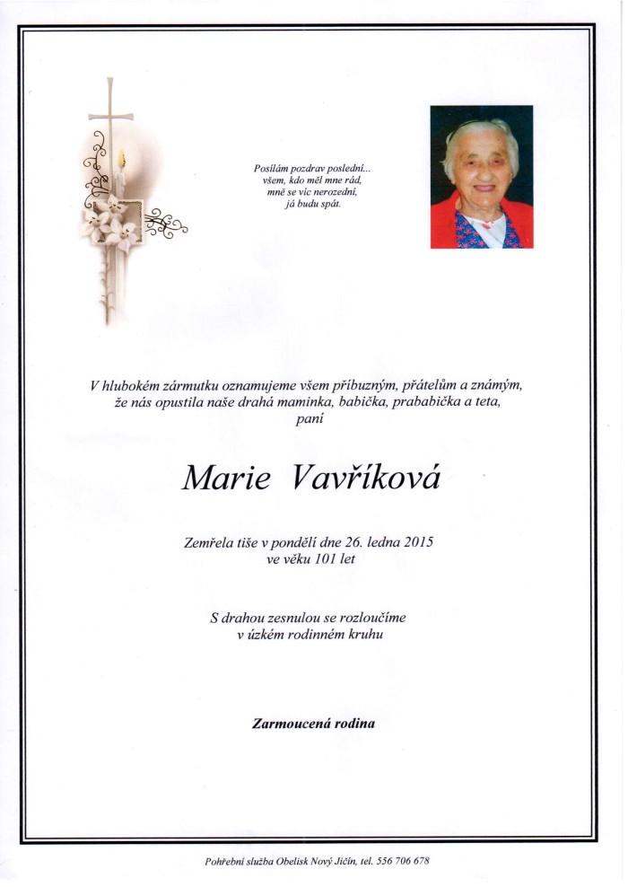 Marie Vavříková