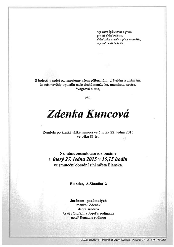 Zdenka Kuncová