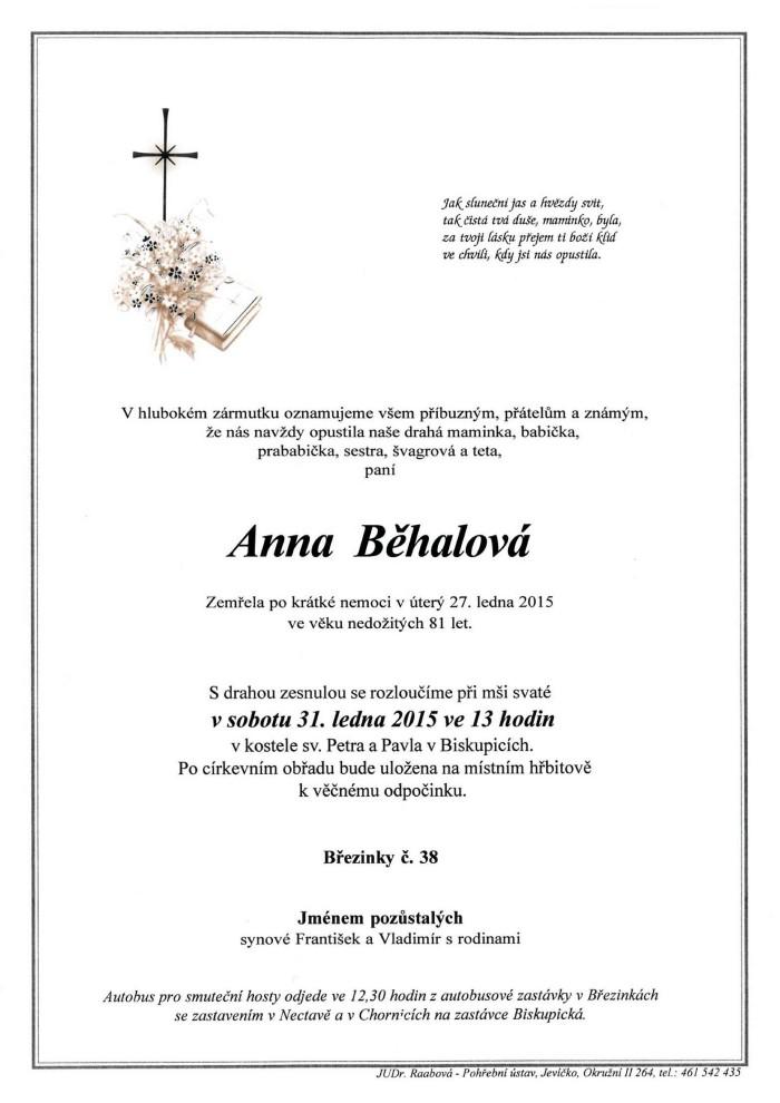 Anna Běhalová