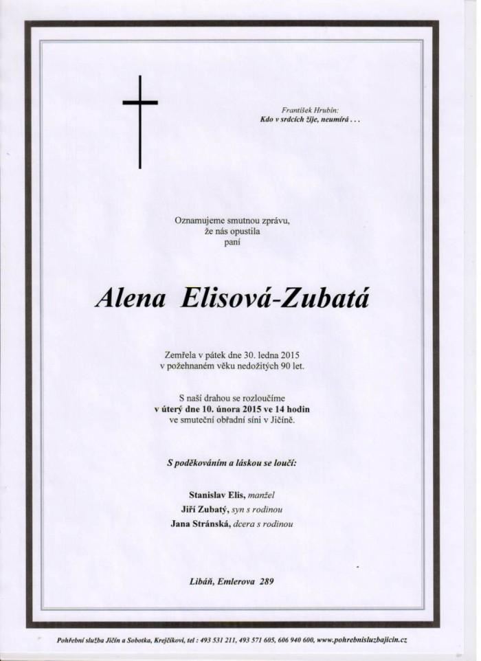 Alena Elisová-Zubatá