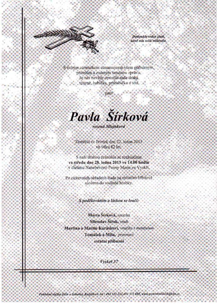 Pavla Šírková