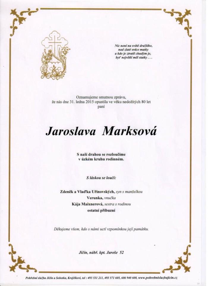 Jaroslava Marksová