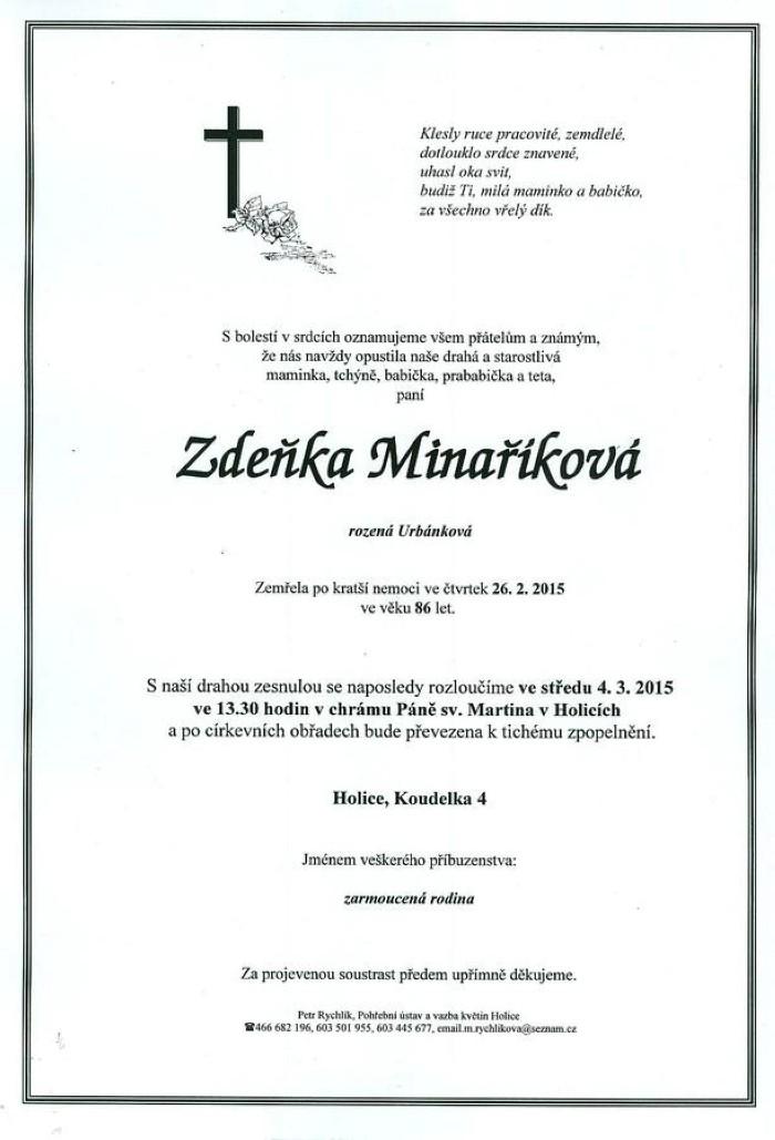 Zdeňka Minaříková