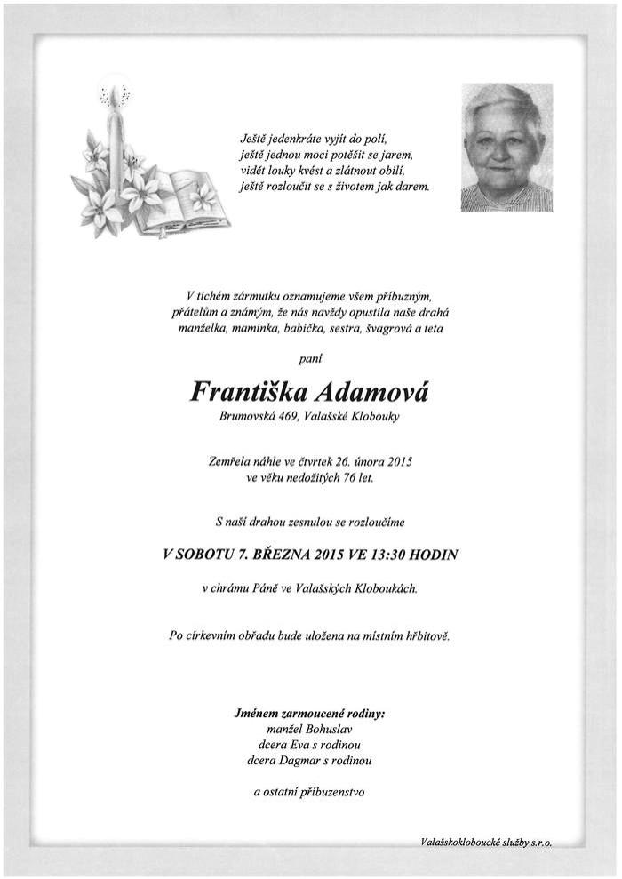 Františka Adamová