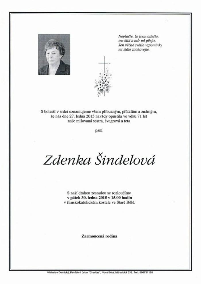 Zdenka Šindelová