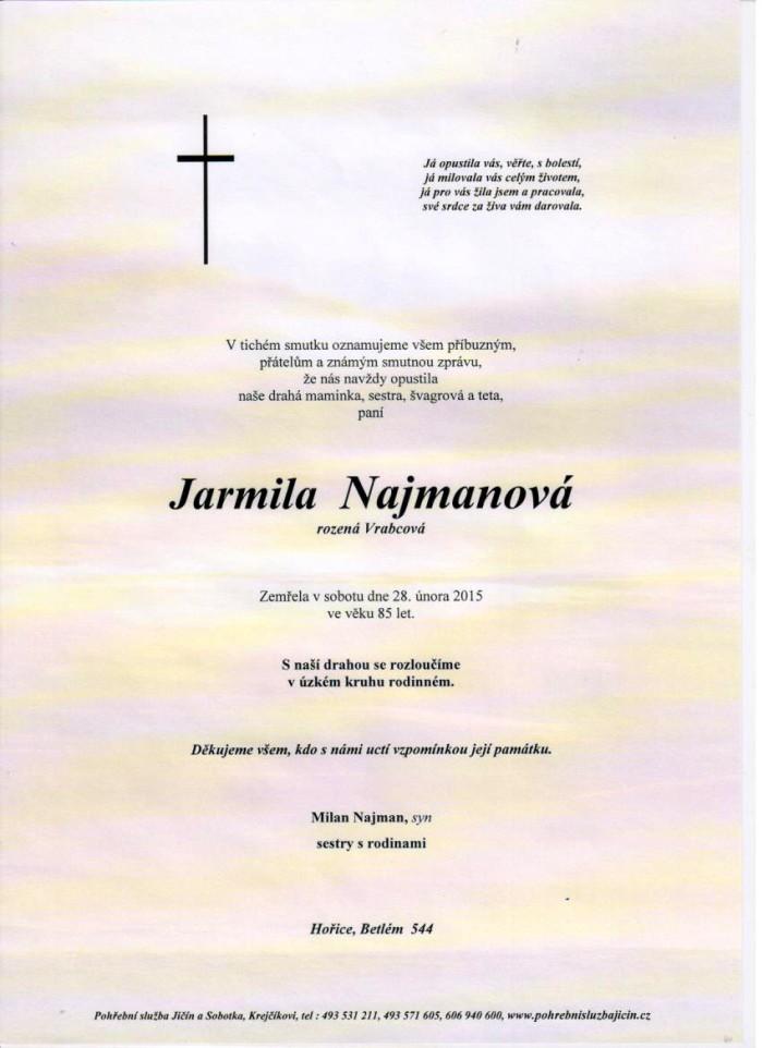 Jarmila Najmanová