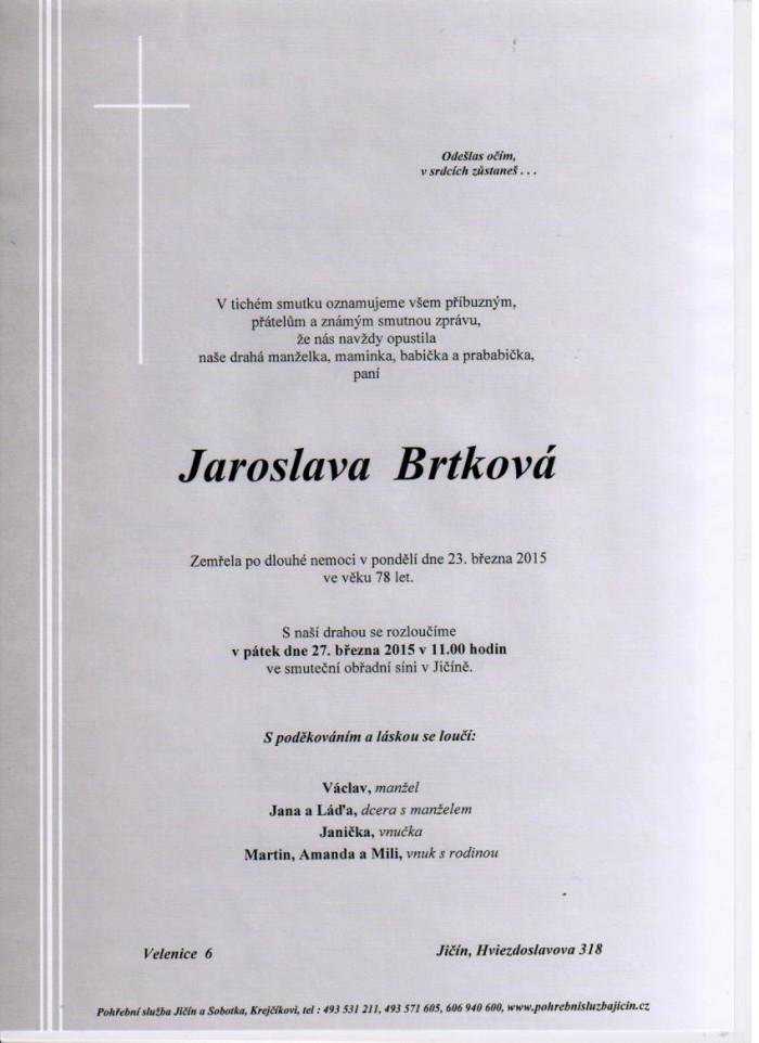 Jaroslava Brtková
