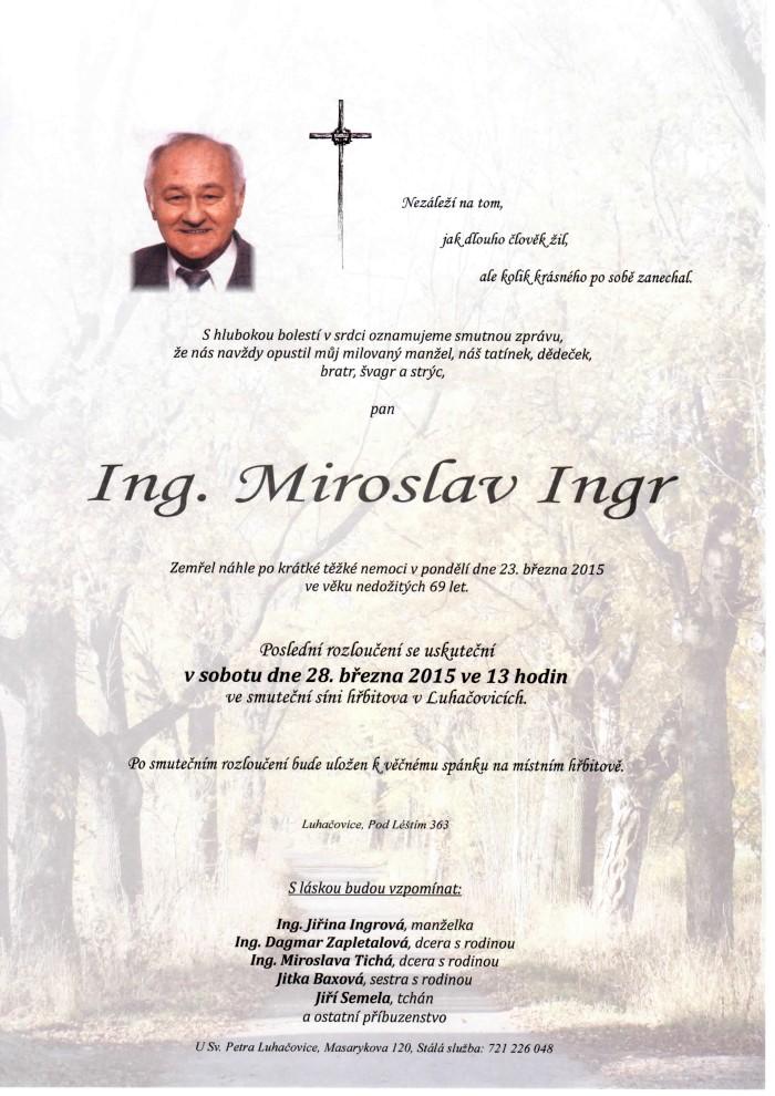 Ing. Miroslav Ingr