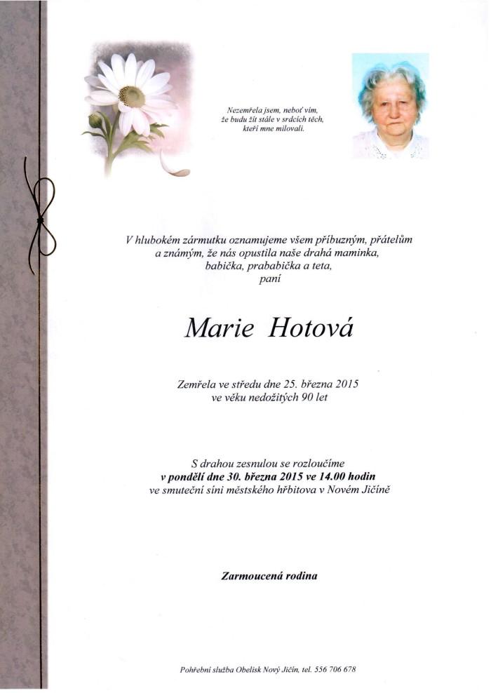 Marie Hotová