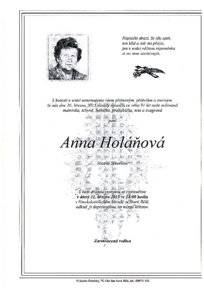 Anna Holáňová