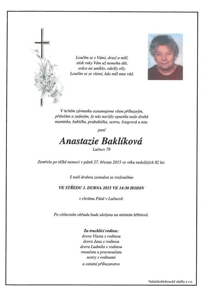 Anastazie Baklíková