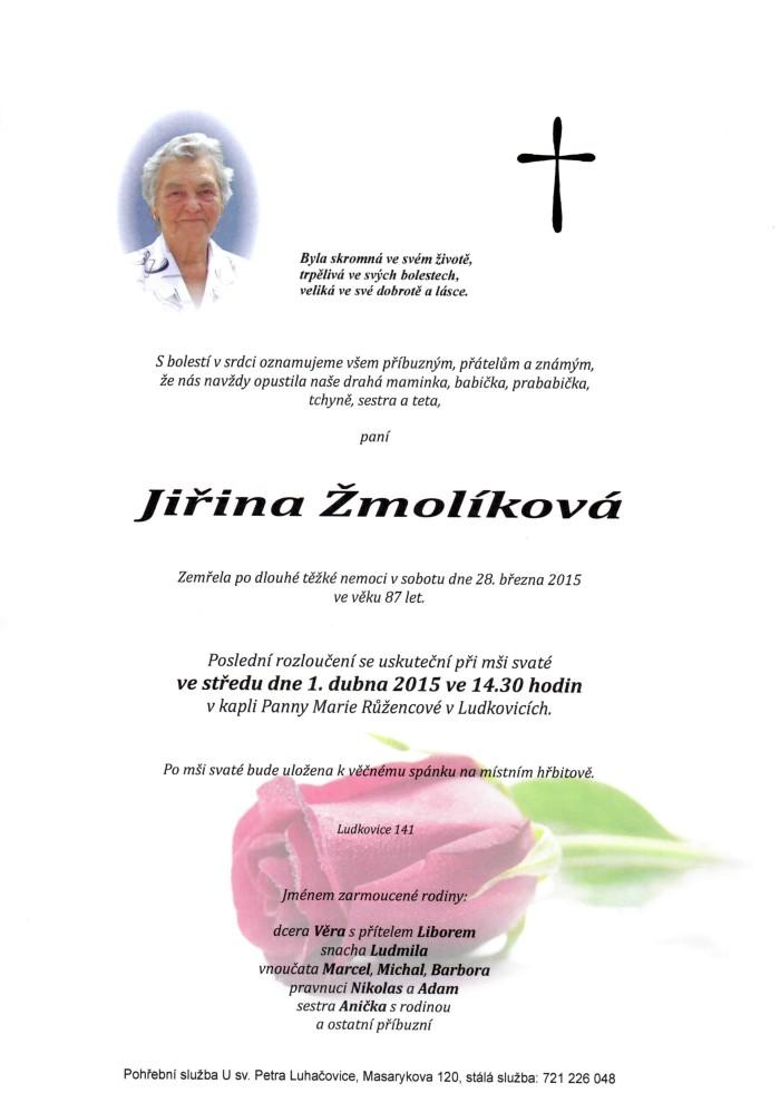 Jiřina Žmolíková