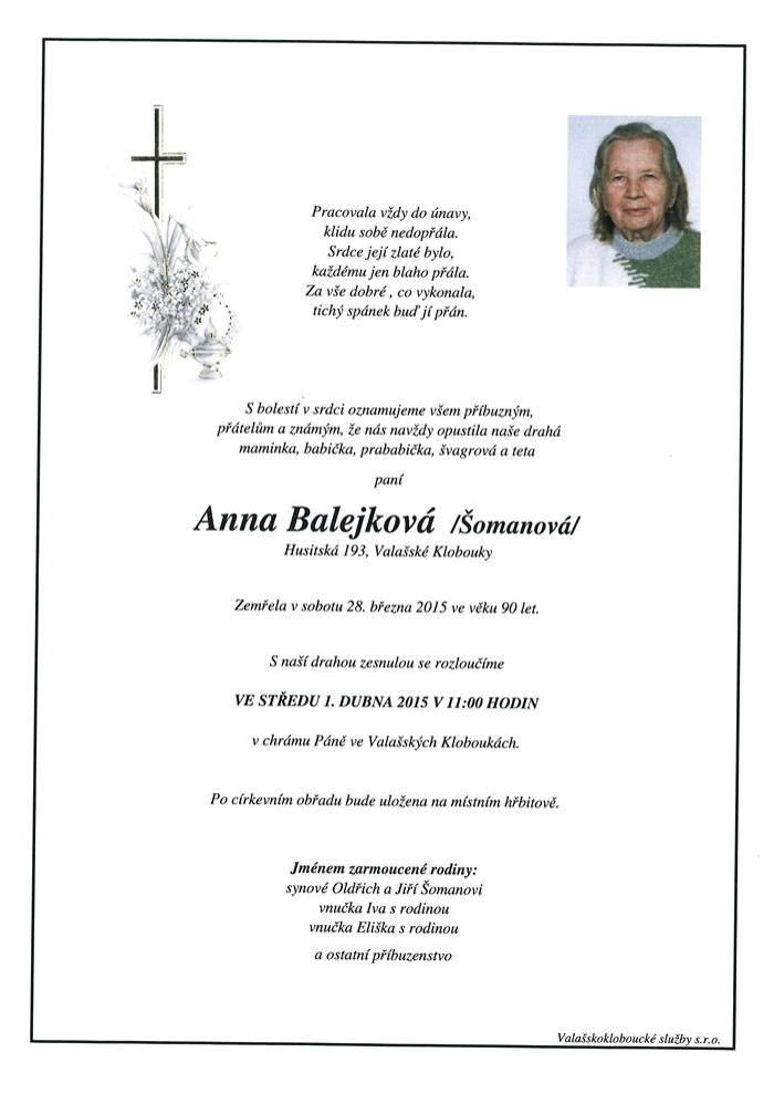 Anna Balejková