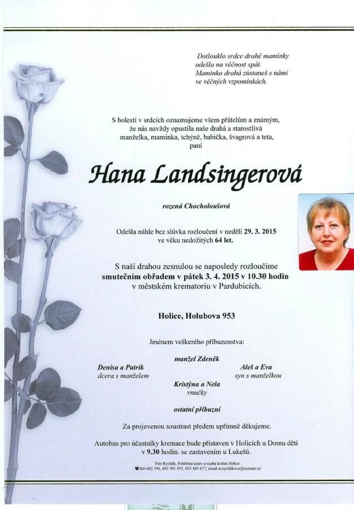 Hana Landsingerová