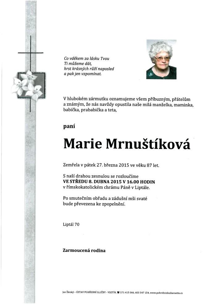 Marie Mrnuštíková
