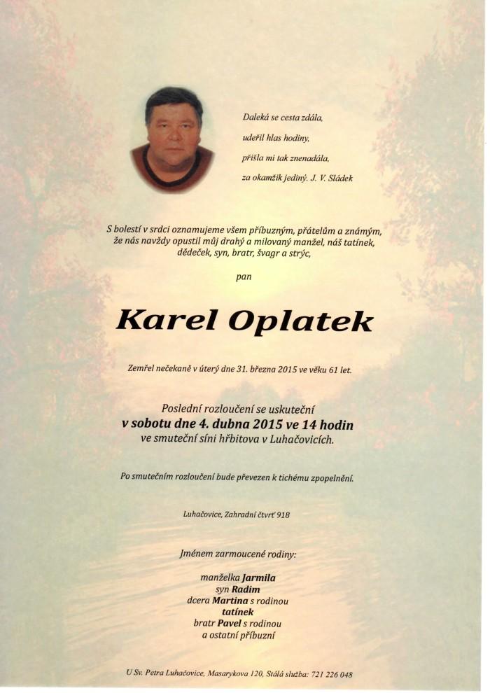 Karel Oplatek