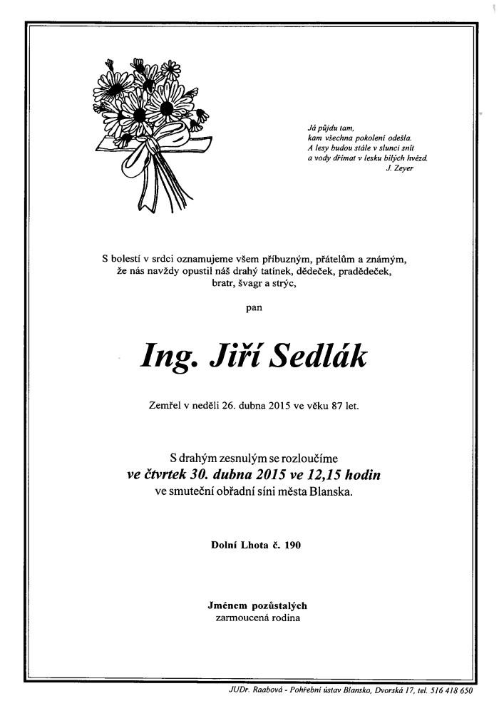 Ing. Jiří Sedlák