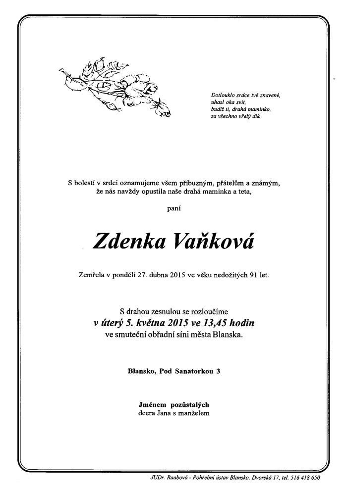 Zdenka Vaňková