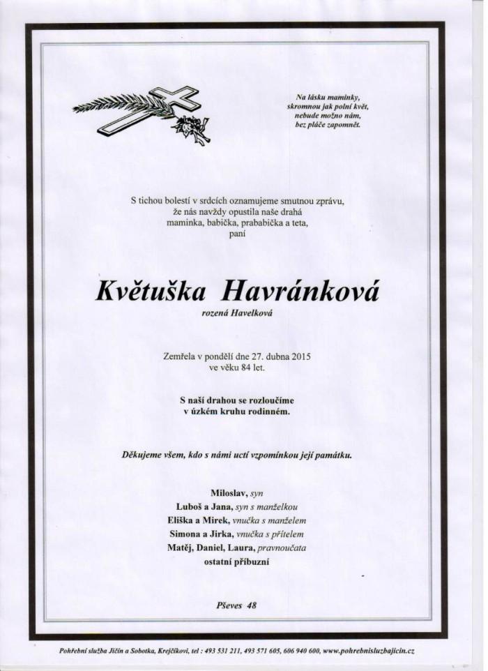 Květuška Havránková