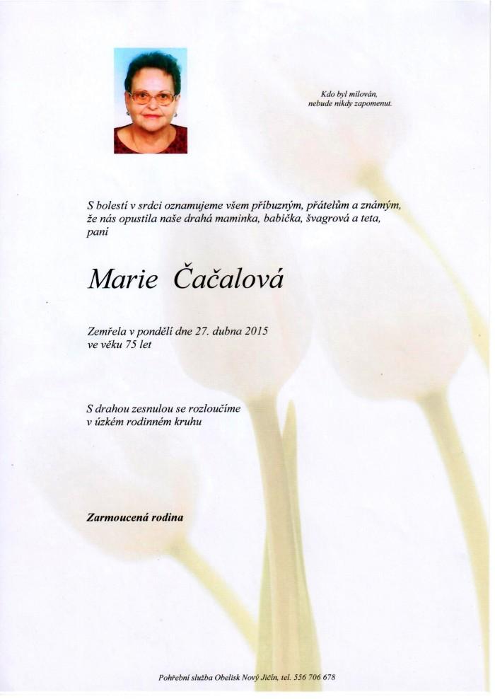 Marie Čačalová