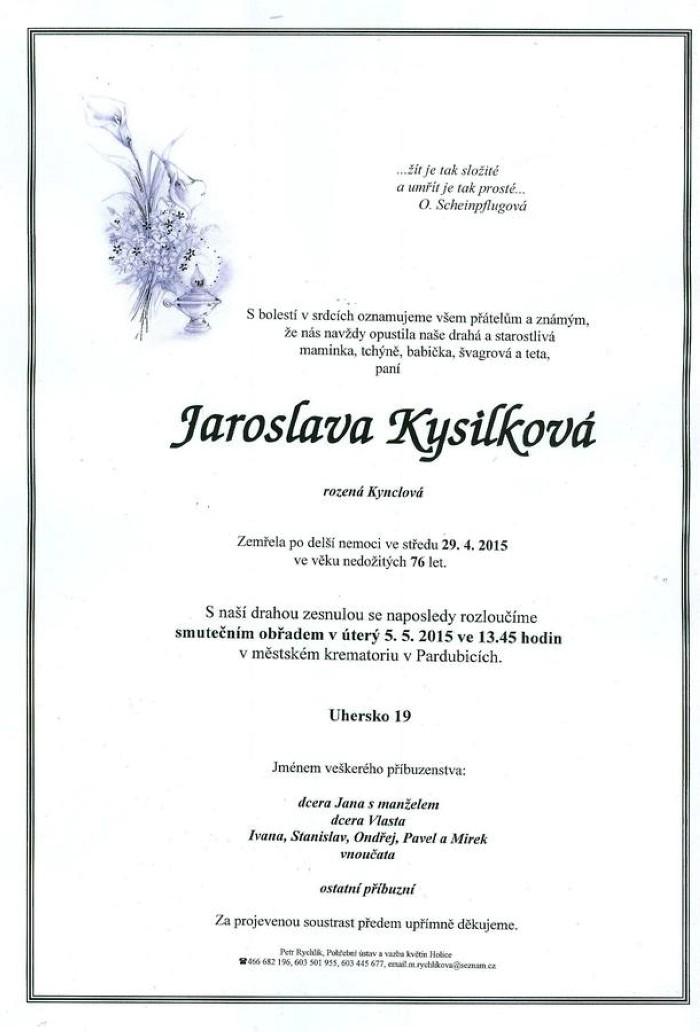 Jaroslava Kysilková