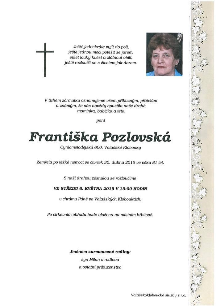 Františka Pozlovská