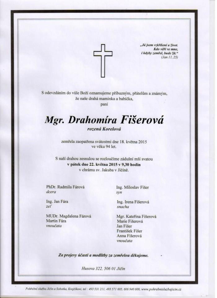 Mgr. Drahomíra Fišerová