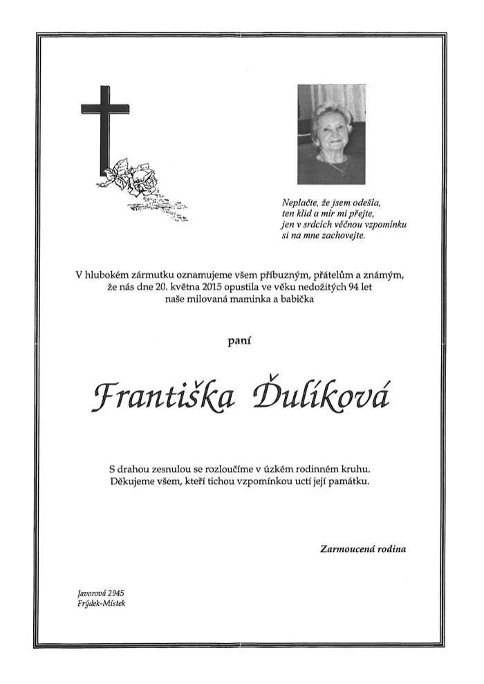 Františka Ďulíková