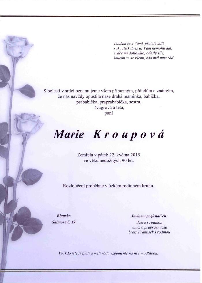 Marie Kroupová