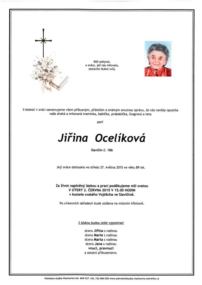 Jiřina Ocelíková