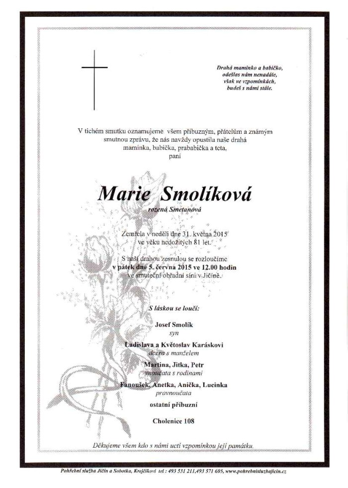 Marie Smolíková