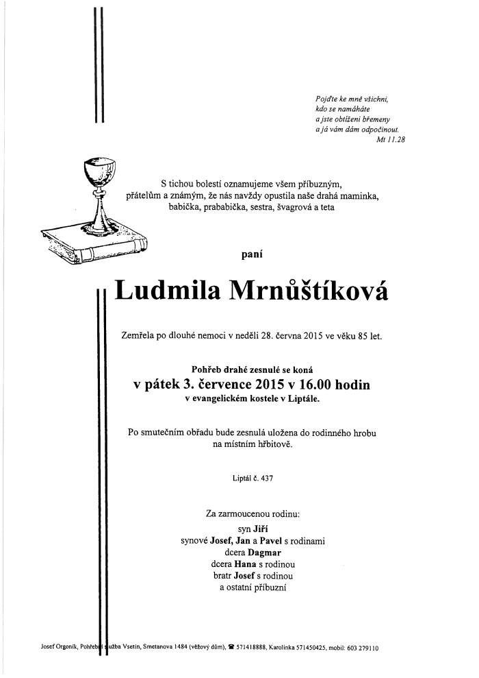 Ludmila Mrnůštíková