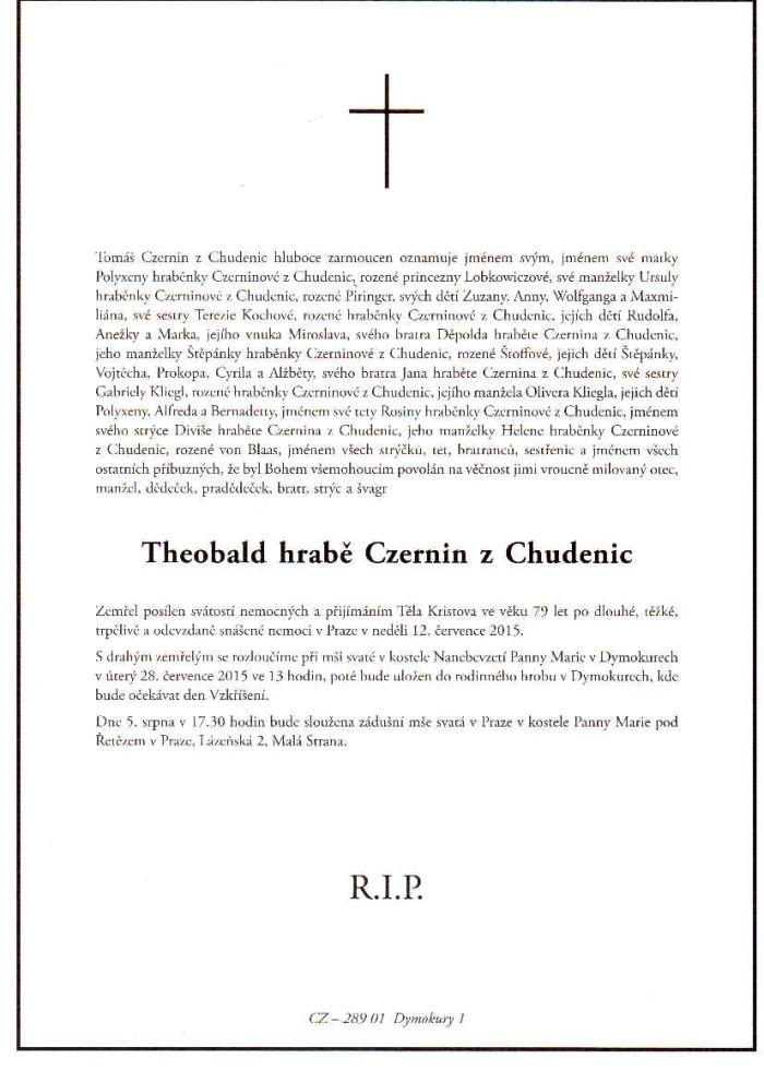 Theobald hrabě Czernin z Chudenic