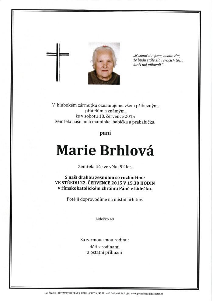 Marie Brhlová