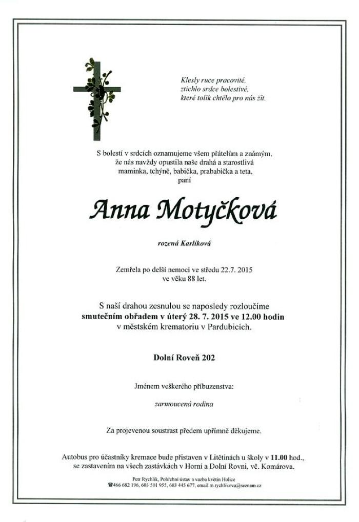 Anna Motyčková