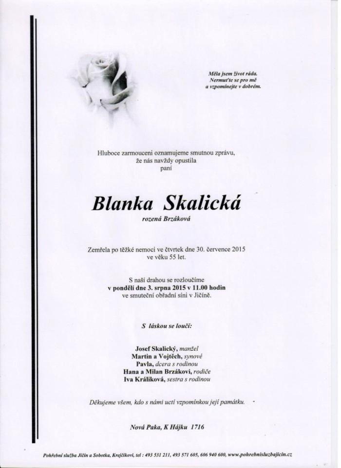 Blanka Skalická