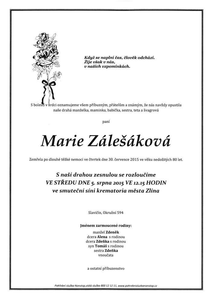 Marie Zálešáková